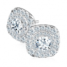 Diamond Stud Earrings for Woman - Hollow Model
