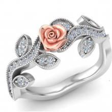 A vintage ring with flower design