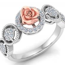 Vintage gold ring in flower design
