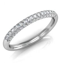 A ring studded with diamonds