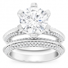 Set of diamond rings - engagement and matching marriage