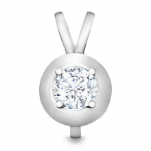 Pendant with a central diamond