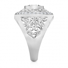 A large and impressive diamond ring