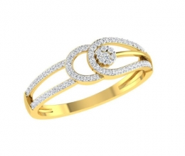 A delicate diamond ring for a woman