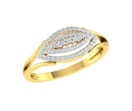 Gold and diamond ring for woman