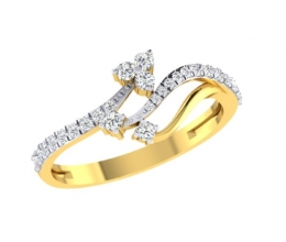 A diamond ring for a woman in a twist design