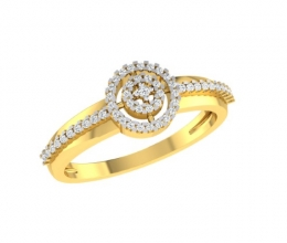 Diamond Ring for Woman - Hollow Design