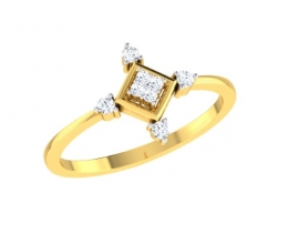A diamond ring designed for a woman