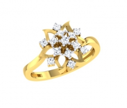 A diamond ring for a woman in a flower design