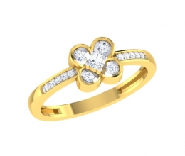 A diamond ring for a woman - a flower ring