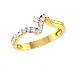 Diamond ring for woman - twist ring