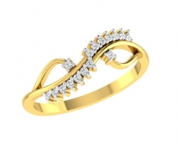 A twisted diamond ring