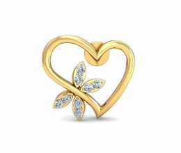 Earrings - Heart shaped diamond earrings for woman