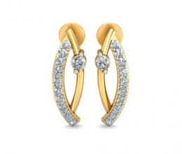 Diamond earrings are hanging for a woman
