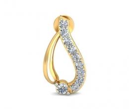Vintage design diamond earrings