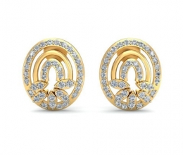 Diamond earrings are designed for the woman