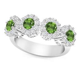 luxuriously designed twist engagement ring