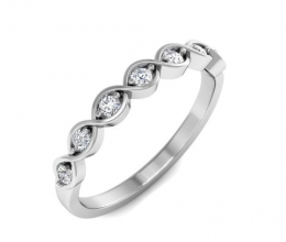 A delicate diamond infinity ring