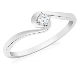 A delicate twisted engagement ring