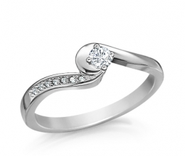 A delicate engagement ring in a prestigious design