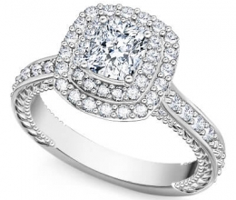 square engagement diamond ring