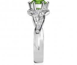 An engagement ring designed in a central gem