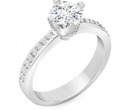 Engagement ring classic design and luxurious