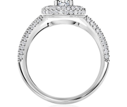 Luxury hollow engagement ring