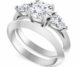 Set of diamond rings for woman
