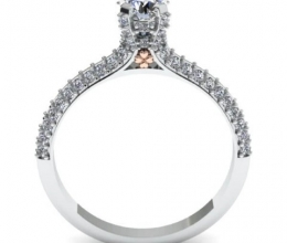 Designed engagement ring for woman