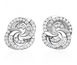 Designed diamond earrings