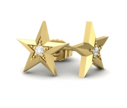 christmas earrings star shaped