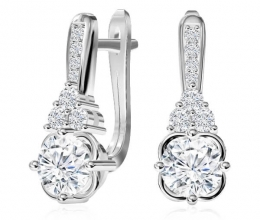 Diamond earrings are designed for woman