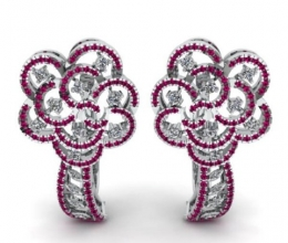 Vintage flower-studded diamonds and gemstones