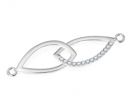A diamond bracelet designed for a woman