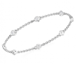 Hearts bracelet with diamonds