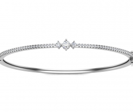 Hard bracelet with diamond for woman