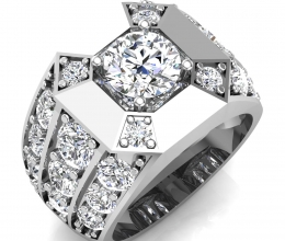A diamond ring for a man