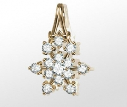 SNOW DIAMOND PENDANT