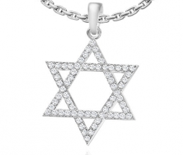 Star of David pendant gold and diamonds