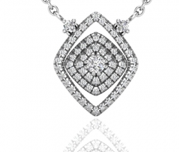 Diamond pendant for woman