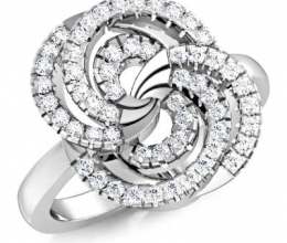 Designed diamond ring