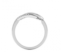 A delicate gold ring set with diamonds