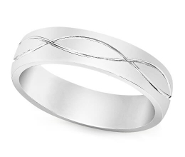 A kosher wedding ring for men and women