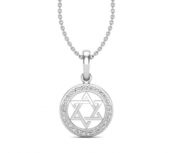 Star of david diamond pendant for men and women
