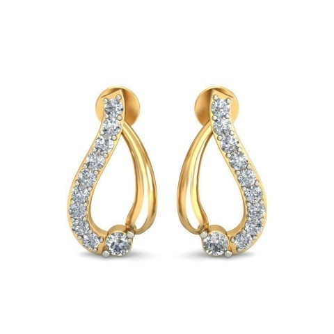 Vintage design diamond earrings