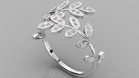 spiral leaf ring