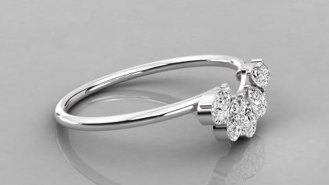 unique pear diamond ring