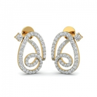 Twisted diamond earrings